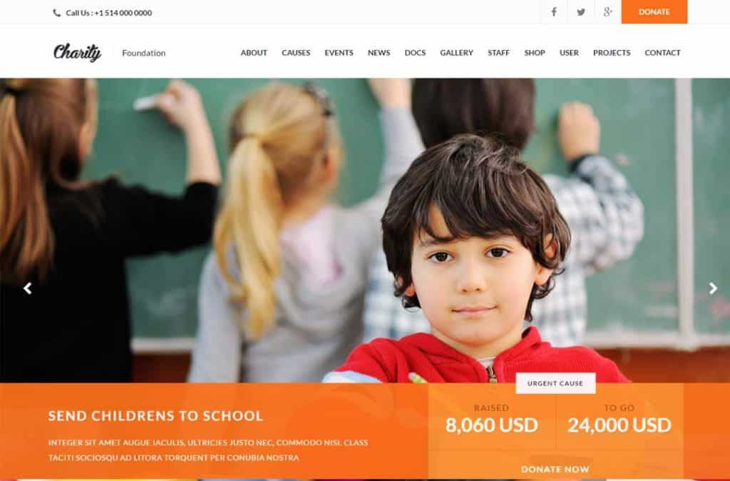 Charity by WPlook theme